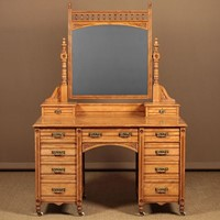 Aesthetic Movement Satinwood Dressing Table.