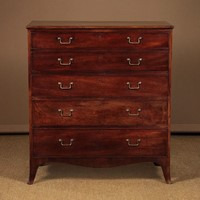 Mahogany Secretaire Chest Of Drawers c.1820.