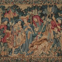 Large Tapestry Panel of a Boar Hunt.