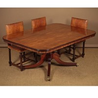 Regency Mahogany Pedestal Dining Table.