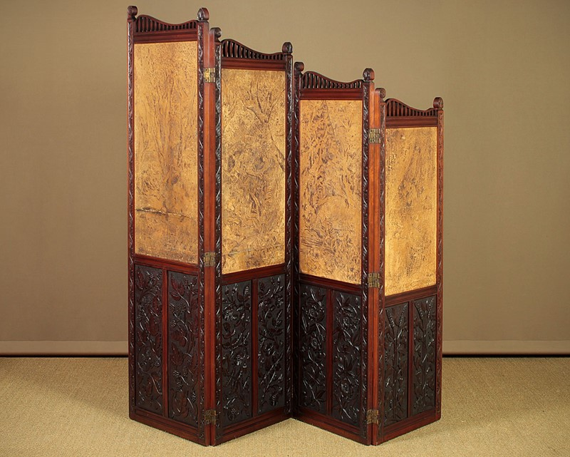 Arts & Crafts Screen with Original Leather Panels.-collinge-antiques-img-8818-main-637257420570014639.jpg