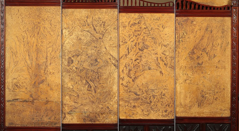 Arts & Crafts Screen with Original Leather Panels.-collinge-antiques-img-8822-main-637257420593295934.jpg