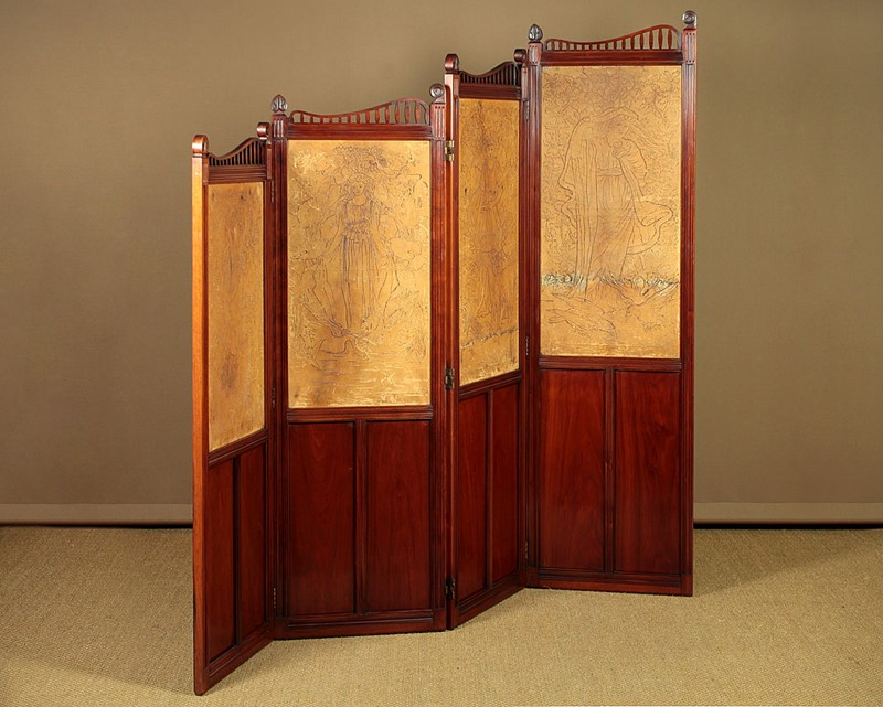 Arts & Crafts Screen with Original Leather Panels.-collinge-antiques-img-8837-main-637257420613451700.jpg