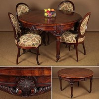 Carved Walnut Centre Table.