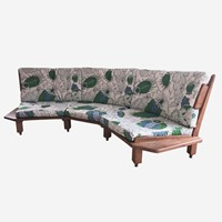 A rare three seater sofa by guillerme et chambron