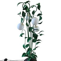 A 1960s italian toleware 'leafy' floor lamp