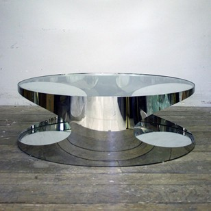 Stylish Chrome Coffee Table
