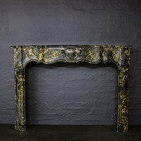 Antique French Chimneypiece in Portoro Marble