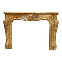 Large Sinenna marble Fireplace in Louis XV manner