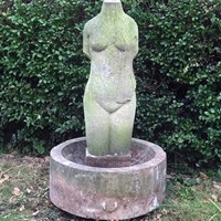 Limestone Sculpture / Bird Bath by Keith Newstead