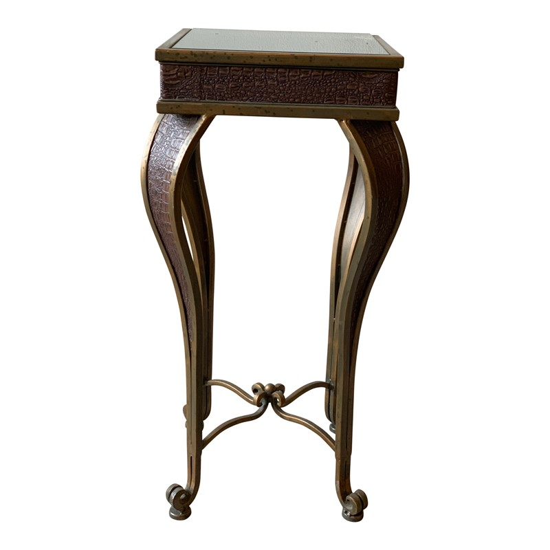 Brass and Faux Crocodile Side Table-cubbit-antiques-img-2846-main-636885017264280448.jpg