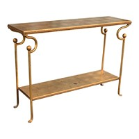 20th Century Console Table lined with Gold Leaf