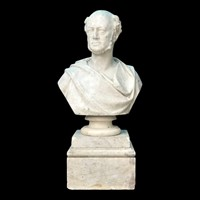 19th Century Marble Bust of a Gentleman