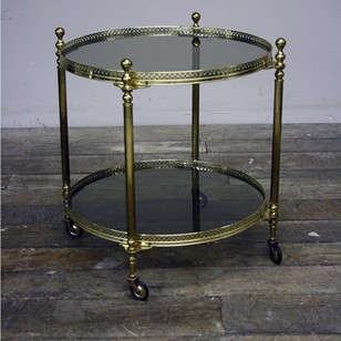 Brass Serving Cart / Drinks Trolley