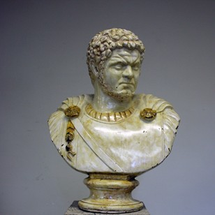 Bronze and Enamel bust of Caracalla