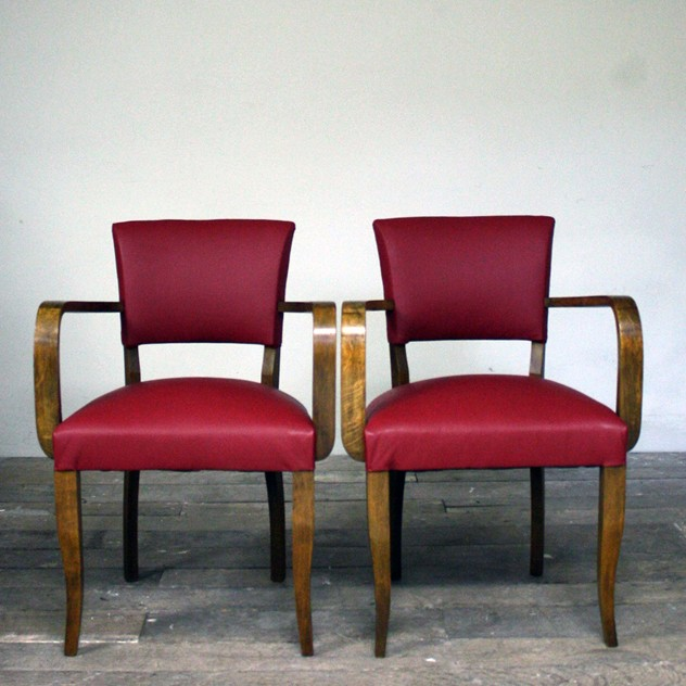 1930's Reupholstered red leather bridge chairs-cubbit-antiques-interior_upholsteredredleatherbridge_front_main_636026382292542584.jpg