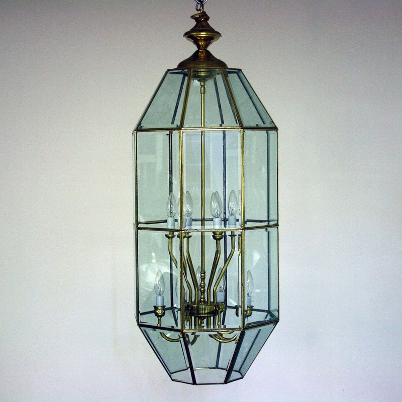 Large Late 20th Century Brass and Glass Lantern-cubbit-antiques-lighting-largelantern-front2-main-637334300132779193.jpg