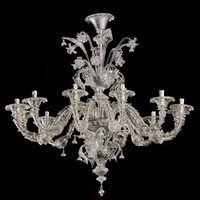 A Pair of De Majo Glass Chandeliers