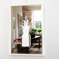 Unusual Mirror with Palm Tree Lamp