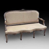 A Stylish Walnut Settee