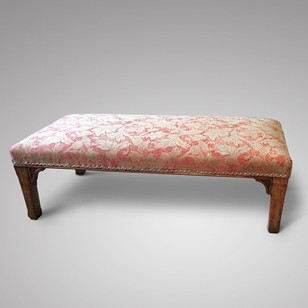 An Impressive Upholstered Stool