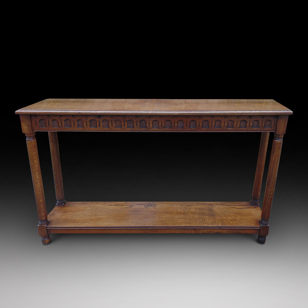 An oak console table decorative collective for Vintage furniture dealers