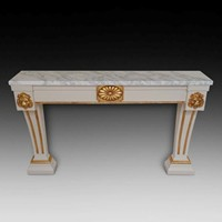 Magnificent Painted Console Table with Gilt Mounts