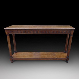 An Oak Console Table
