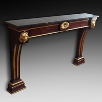 Walnut Console Table with Guilt Mounts