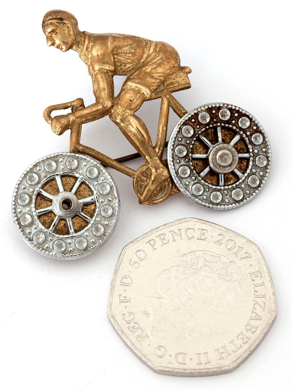 Charming Pressed Brass Cycling Brooch-david-griffith-antiques-50144-main-636765905586339583.jpg