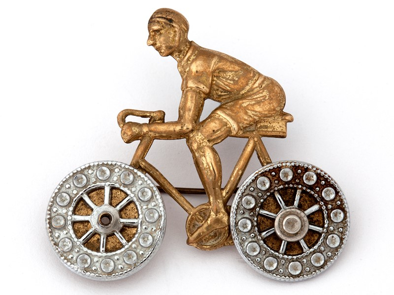 Charming Pressed Brass Cycling Brooch-david-griffith-antiques-50146-main-636765905523684124.jpg