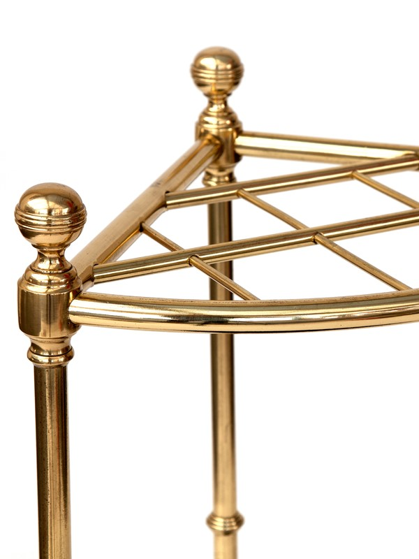 Heavy Gauge Brass Ten Section Corner Stick Stand-david-griffith-antiques-57217-main-637025051427759165.jpg