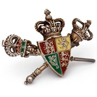 Charming Victorian Silver and Enamel Brooch