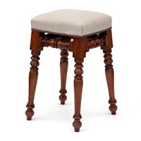 Antique Oak Dressing Table Stool