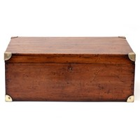Heavy Quality Brass Mounted Shipping Chest