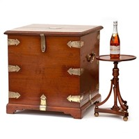 Elm Brass Mounted Gentleman's Travelling Chest