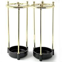 Rare Pair of Brass and Cast Iron Stick Stands