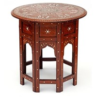 Circular Anglo Indian Hoshiarpur Table