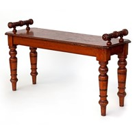 Gutsy Oak Country House Hall Bench