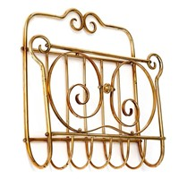 Brass Wall Mounted Magazine Rack