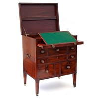 Mahogany Gentleman's Grand Tour Travelling Chest