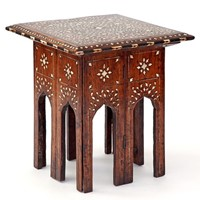 Mini Folding Base Sheesham Wood Hoshiarpur Table
