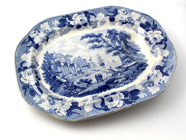 Antique Blue and White Meat Plate-david-griffiths-antiques-DC_2042_main.jpg