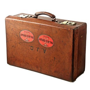 Gutsy Leather Suitcase with Brass Fittings