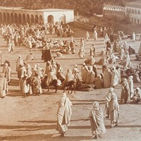 Panoramic Photograph of Camel Market A. Bougault