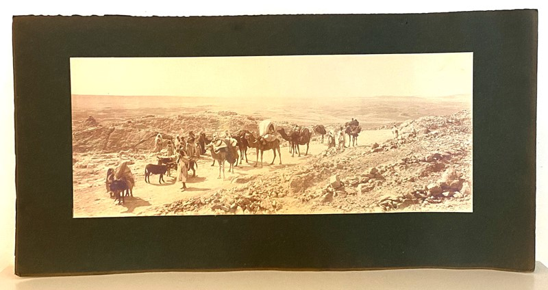 Panoramic Photograph of Camel Traders -david-tupman-antiques-img-1393-main-637278325799476604.jpg