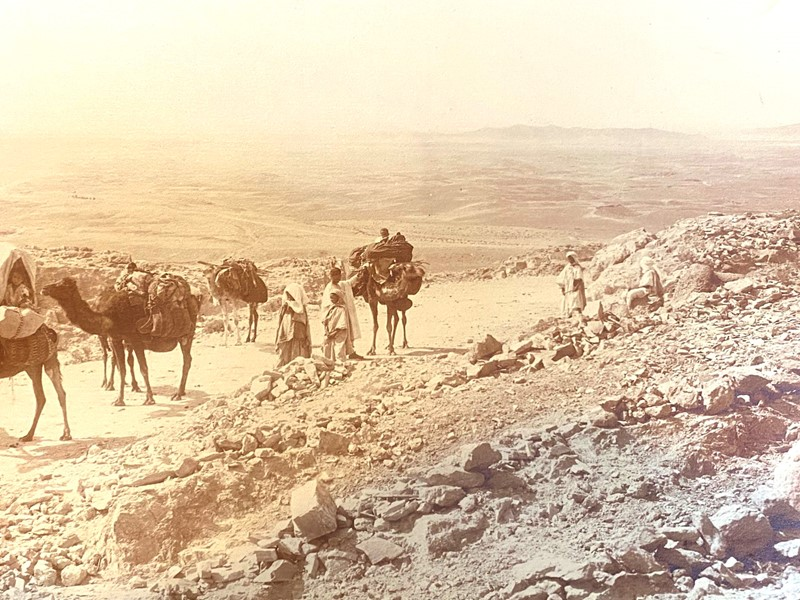 Panoramic Photograph of Camel Traders -david-tupman-antiques-img-1396-main-637278325813694824.jpg