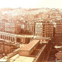 Panoramic Photograph of a City Scene