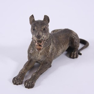 Franz Bergman Style Bronze Sculpture of Great Dane