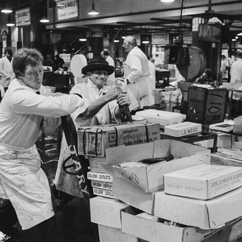 Porters at Billingsgate Fish Market